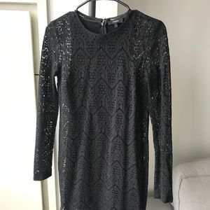 Theory - NEW Louise dress Black Clio Lace #Size 2